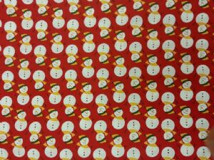 NEW! CHRISTMAS SNOWMAN - Fabric 100% Cotton - Price Per Metre